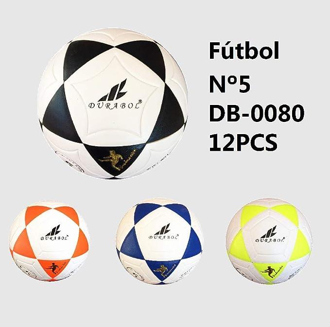 Durabol Balón de fútbol football talla 5 Color Blanco Rosa DB-0080 ...