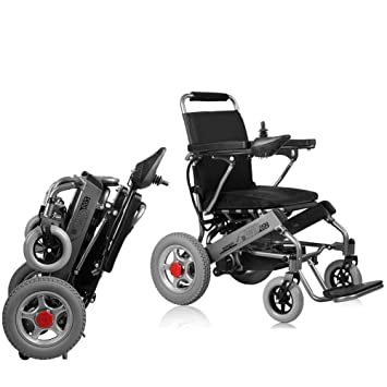 Amazon.com: KuiGu silla de ruedas eléctrica, plegable para ...