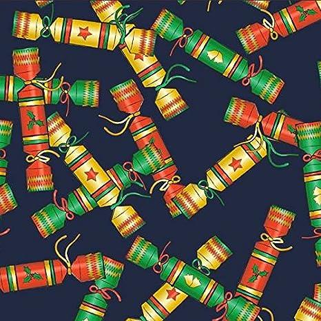 FS157 petardos de Navidad azul impresión fina suave Jersey hilos ...
