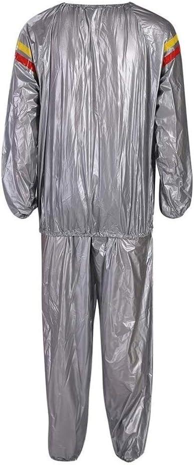 traje de sauna de alta resistencia Traje de p/érdida de peso en gimnasia Ropa de entrenamiento calor/ías quemadas Traje de sauna s/úper r/ápido Traje de sauna Traje de gimnasia sudoraci/ón intensa