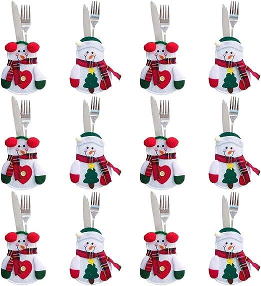 Gudotra 12pcs Bolsa para Cubiertos Navidad Cubiertos Tenedores ...