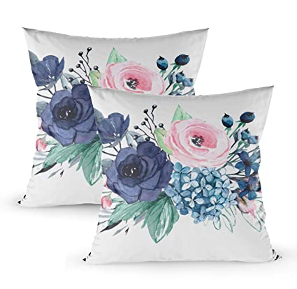 Stupendous Decorative Pillows For Couch Emmteey 18X18 2 Pcs Pillow Covers Home Throw Pillow Covers For Sofa Adventure Art Banner Black Calligraphic Calligraphy Dailytribune Chair Design For Home Dailytribuneorg
