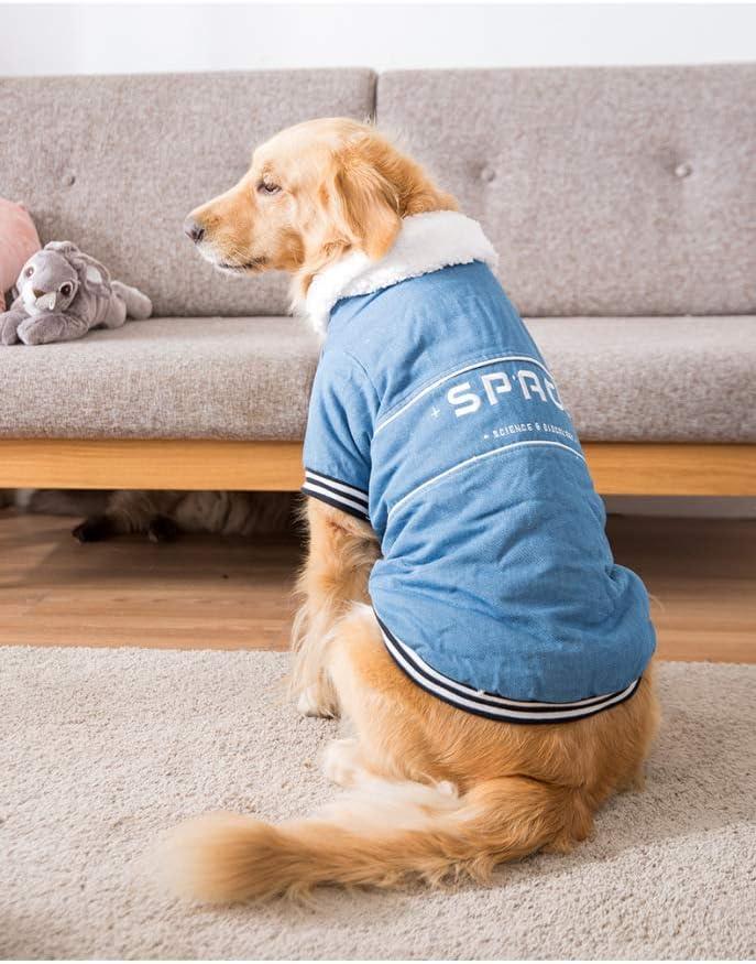 Ropa Abrigada para Perros para Cabello Dorado Pana Husky Abrigo Acolchado de algodón de Invierno Chaqueta Grande para Mascotas