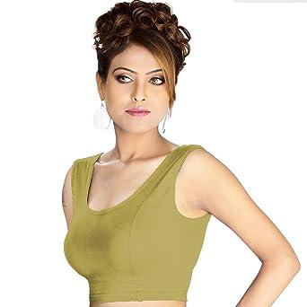 Abhi Women's Cotton Blouse Women's Saree Blouses at amazon