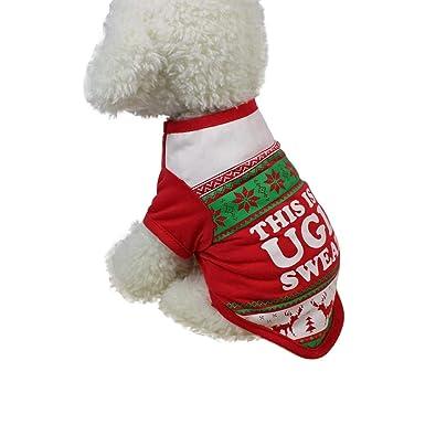 Amazon Com Pet Dog Christmas T Shirt Laimeng World Christmas Cute