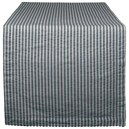 DII Cotton Seersucker Striped Table Runner for Dinning Room, Entryway Weddings, Parties and Everyday Use, 14x108