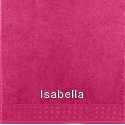 Erwin Müller Isabella Toalla con nombre bordado, fucsia, 50 x 100 cm