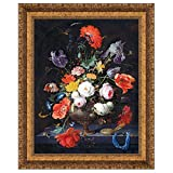 Design Toscano ''Still Life with Flowers and a Watch, 1679'' Canvas Replica Painting, Small