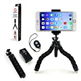 GoStellar Universal Flexible Mini Tripod, Lightweight, Ball Head for Cameras and Smartphone Devices, Mount Adapter, Bluetooth Remote Shutter (Wrist Strap)