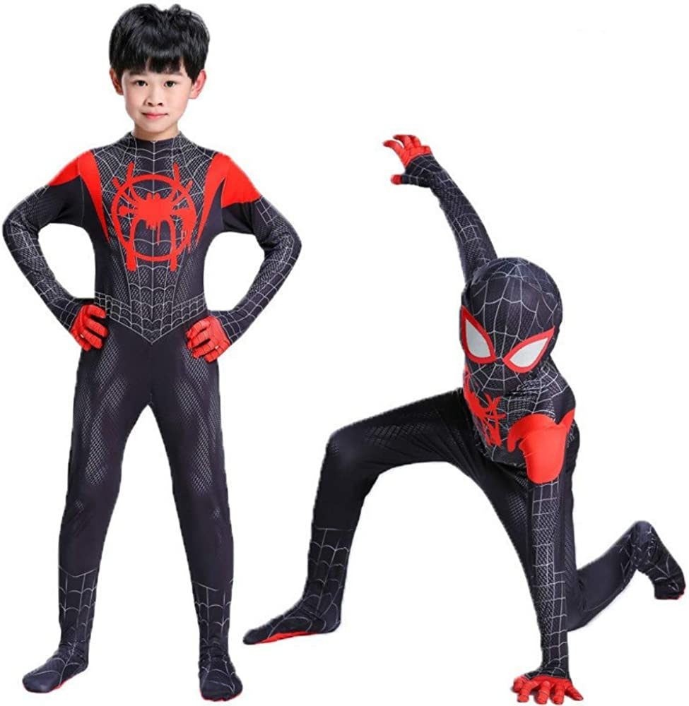Miles Morales Cosplay Costume Spider-Man Bodysuit Black