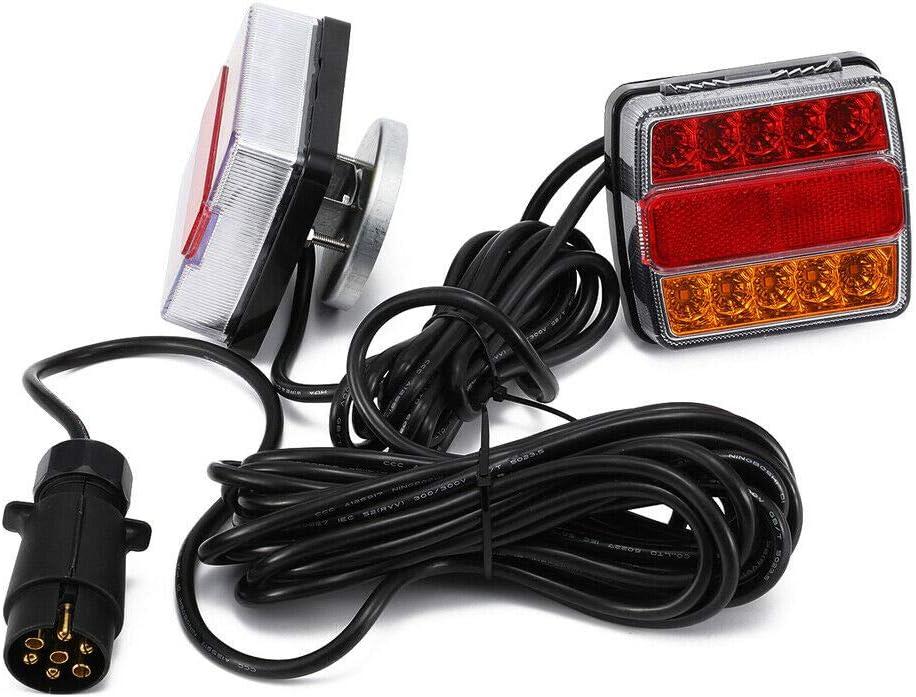 luz trasera iluminaci/ón para remolque Faros traseros LED de 12 V con cable