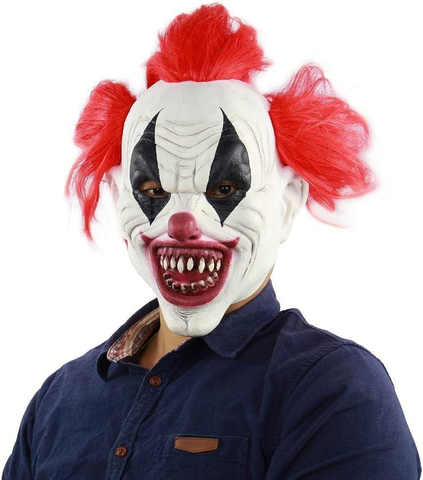 WasJmu 1 máscara de Payaso de Joker para Disfraz de Payaso de ...