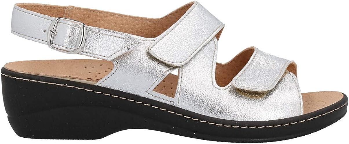 Sandalo Cinzia soft Pelle Donna Argento Iaeh18-e