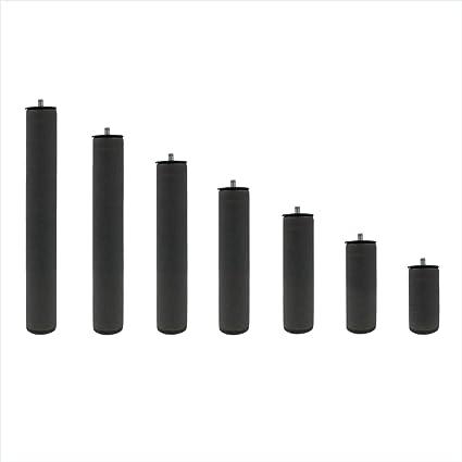 Patas Metálicas Redondas - Rosca de Metrica 10 (1 cms) - Packs de 4 uds de 20 cms