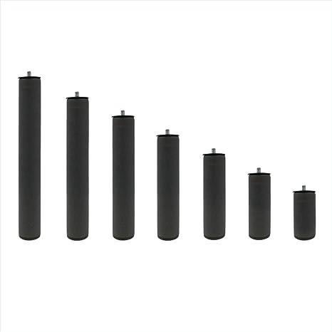 KAMA HAUS Juego de Patas metalicas Redondas de 35 cm | para Base tapizada o somier | Pack de 4 Unidades | Incluye pletina de plastico | Patas con ...