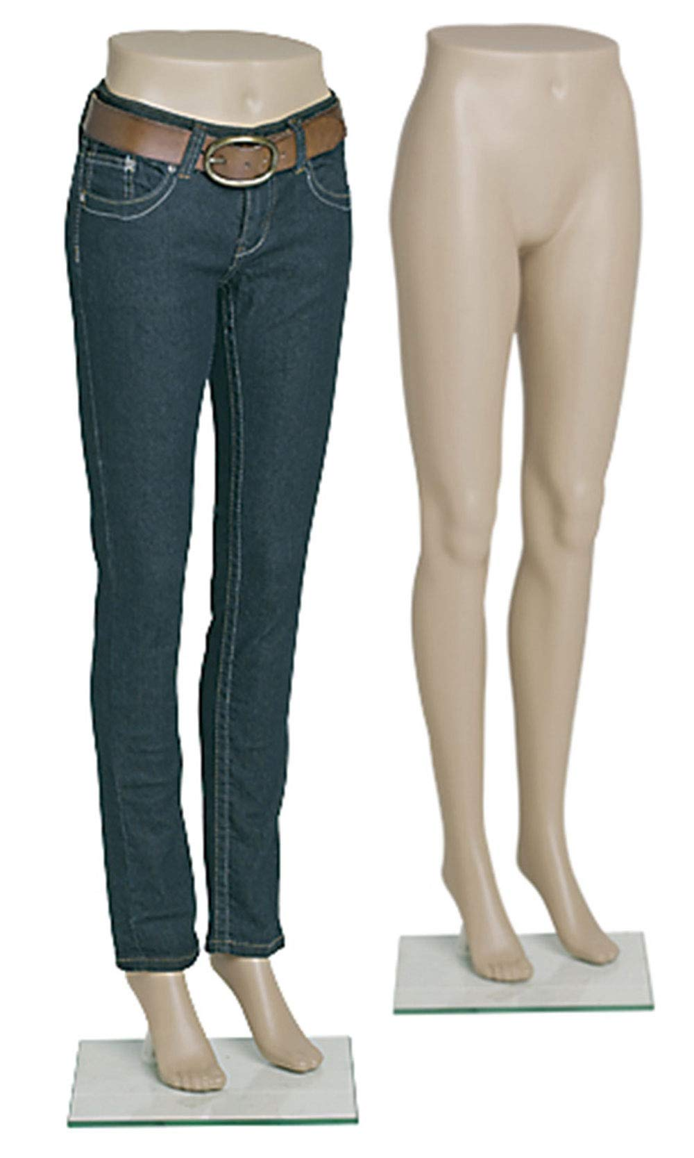 Female Plastic Mannequin Leg Form - Height 43'' - with Base