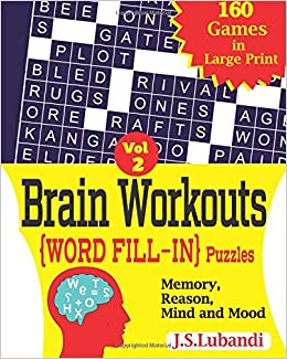 Amazon.com: Brain Workouts (WORD FILL-IN) Puzzles (Volume 2 ...