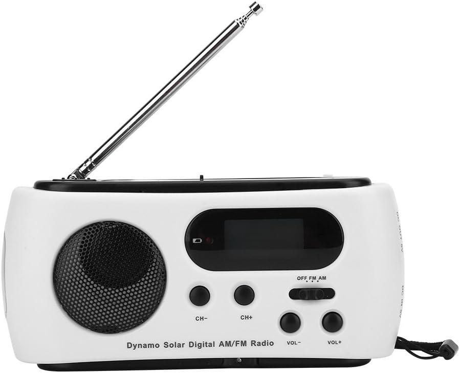 VGEBY1 Crank Radio Linterna, Radio de Emergencia portátil Energía Solar Manivela Recargable Radio FM/Am 3 LED Linterna Sirena de Emergencia Cargador ...