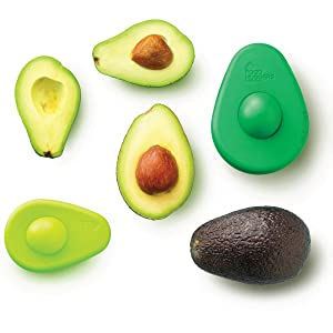 Food Huggers Silicone Avocado Huggers Set Of 2, Multi Color - Patented Product