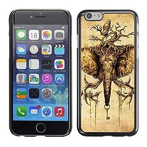 CaseCaptain Carcasa Funda Case - Apple Iphone 6 / Mythical Elephant And Owl /