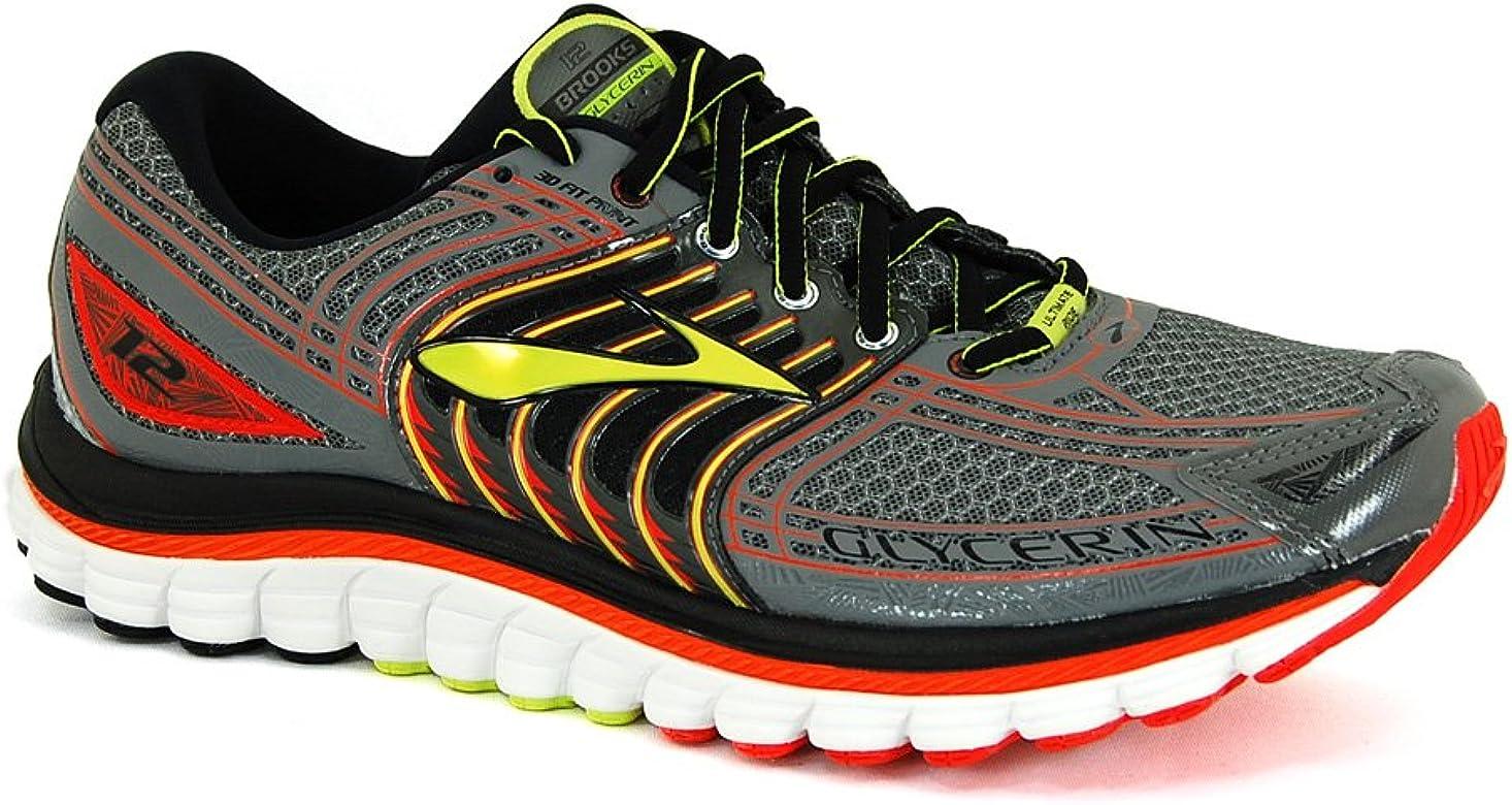Brooks Glycerin 12 - Zapatos para Correr para Hombre, Color Grey, Talla 48.5: Amazon.es: Zapatos y complementos