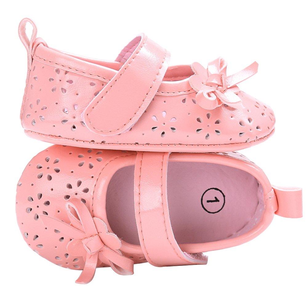 Everpert PU Hollow Newborn Baby Toddler Girl Antiskid Princess Shoes