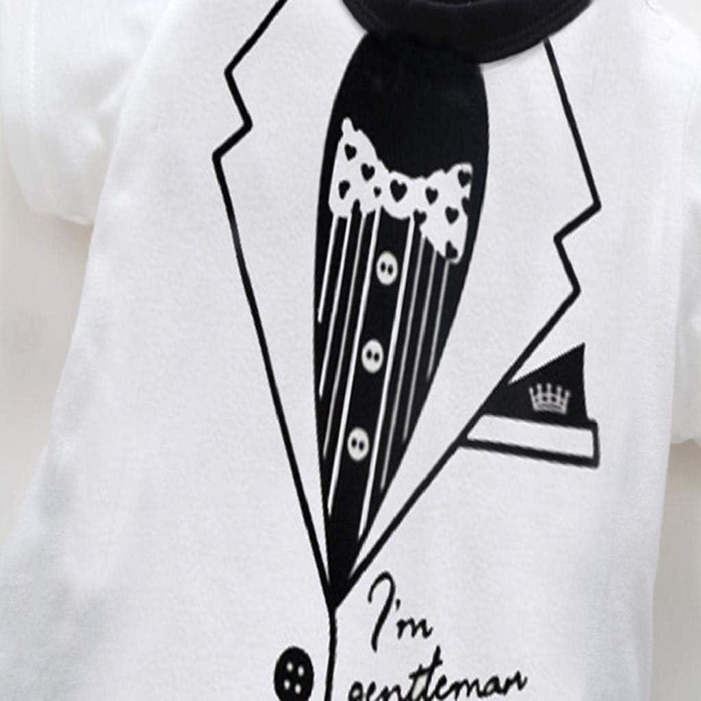 SAKAMU-Toddler Infant Kid Baby Girl Boy Print Cloth Gentleman Romper Playsuit Jumpsuit