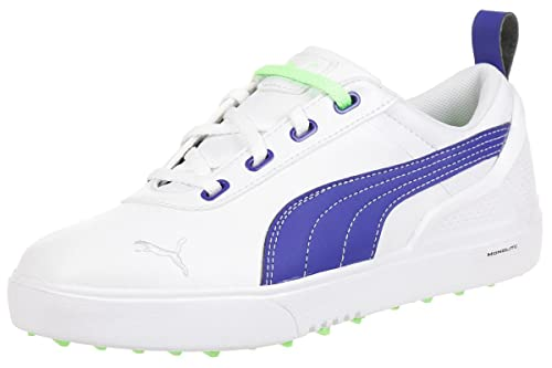 88eea9f062b Puma MonoliteMini Kids Women Golfschuhe Golf 187594 04 white  Amazon ...