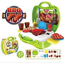 23 Pieces Food Pretend Play Sets - BBQ Palyset Including Pretend Food Items, Utensils and More - Great Gift for Kids Todders Boys and Girls