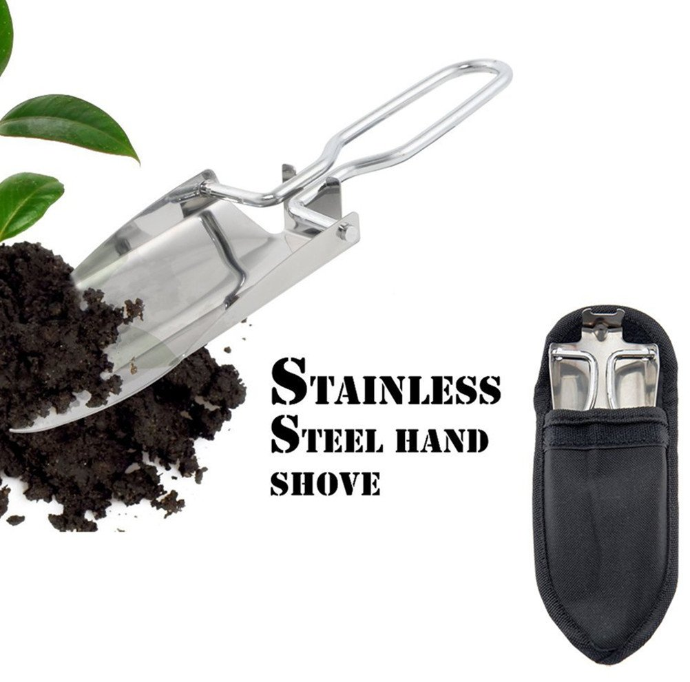 CZ-XING 3pcs Stainless Steel Gardening Folding Portable Hand Shovel Outdoor Garden Portable Foldable Handy Shovel