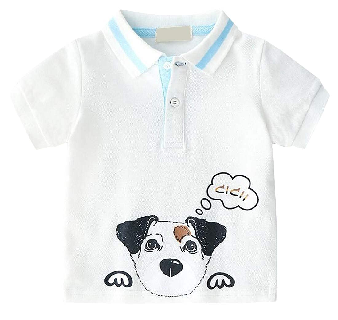 Sweatwater Boys Top Kids Polos Shirt Short Sleeve Print Cartoon T-Shirt