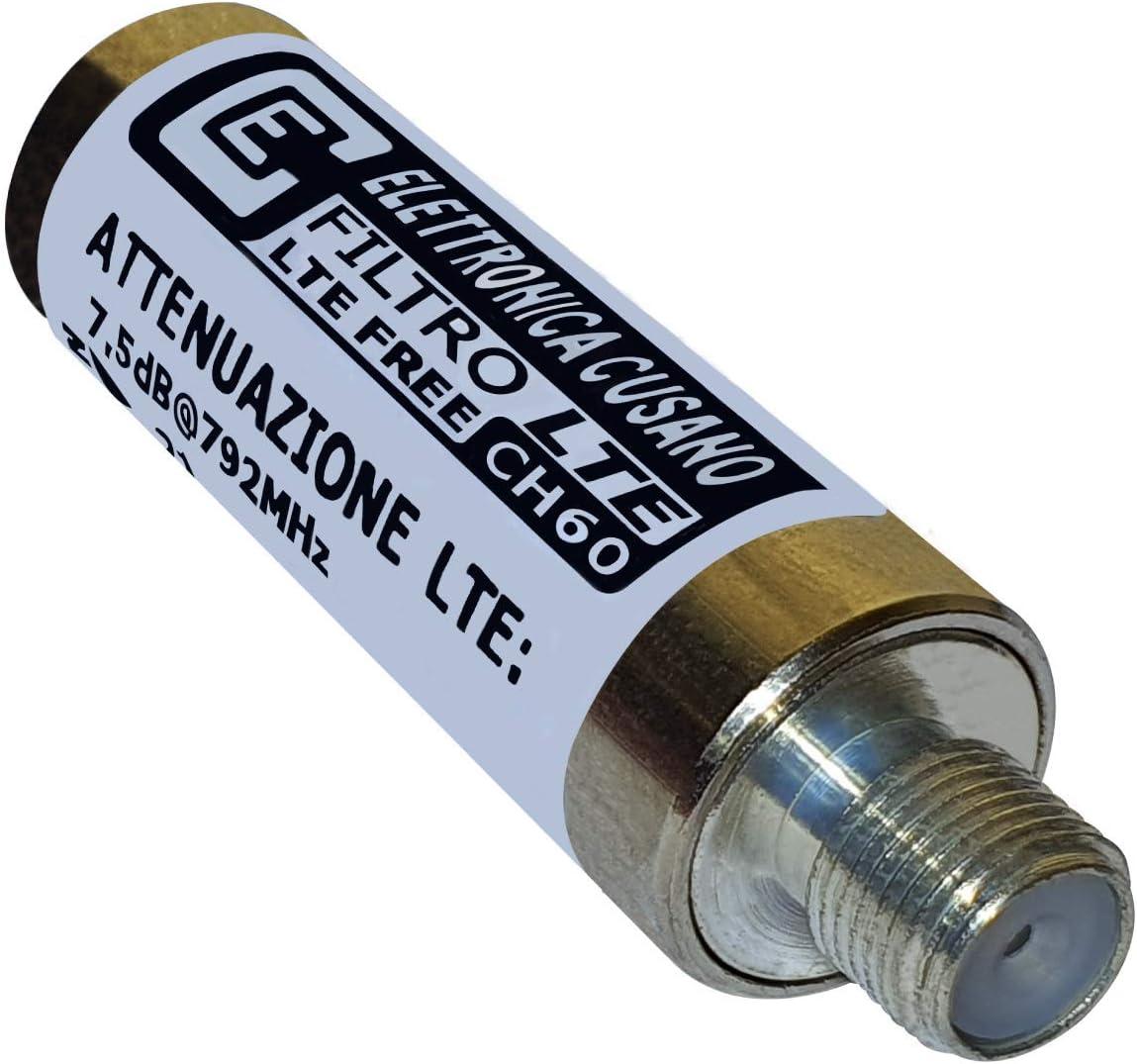 ECLTE – Filtro LTE en Versión de Acoplamiento para el dipolo de una Antena UHF – atenuación de Paso de < 2dB