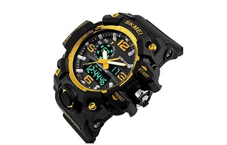 Amazon.com: Relojes de Hombre 2018 Reloj LED Sport Water Resistant ...