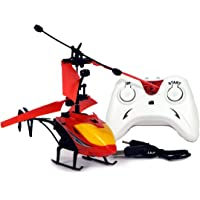Gooyo Exceed Induction Flight Electronic Radio RC Remote Control Toy Charging Helicopter with 3D Light Toys for Boys Kids (Indoor Flying) (Red)