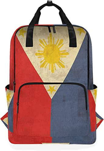 Amazon.com: Large Travel Backpack Retro Philippine Flag