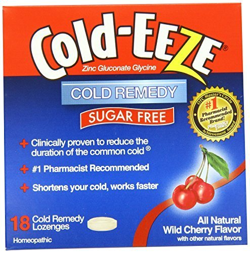 Cold-eeze Cold Remedy Lozenges, Sugar Free Wild Cherry, 18 Count(pack of 3) (Zinc Cherry)