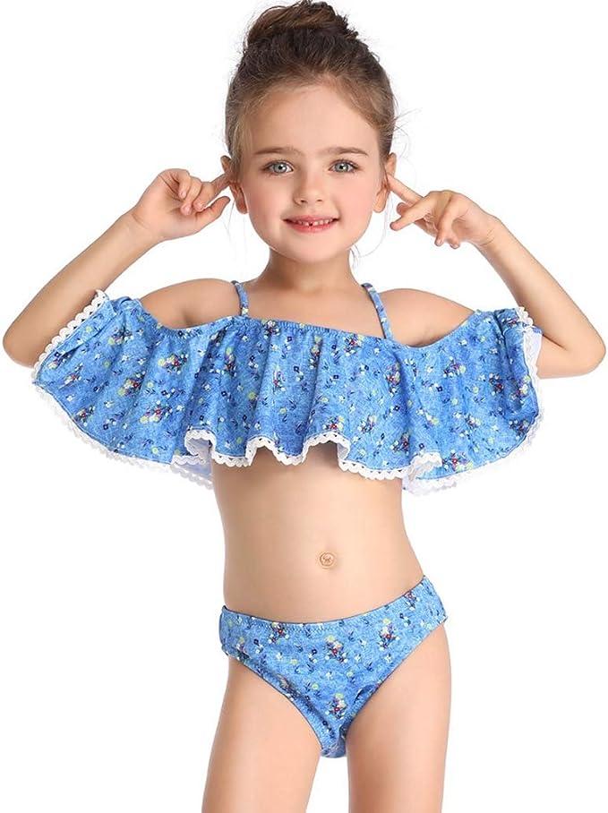 HUXINFEI 10 Años Niños Traje De Baño Niñas Bikini Traje De Baño ...