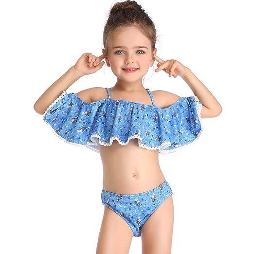 HUXINFEI 10 Años Niños Traje De Baño Niñas Bikini Traje De ...