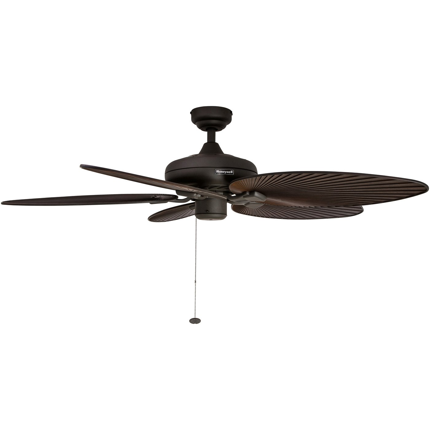 Honeywell Palm Island 52-Inch Tropical Ceiling Fan with Sunset Glass Bowl Light Indoor//Outdoor Five Palm Leaf Blades Bronze