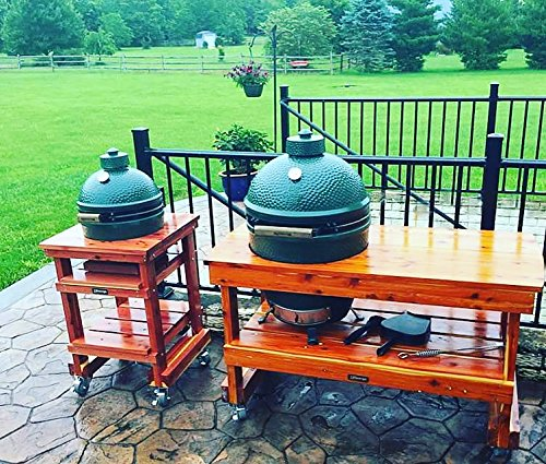 JJGeorge MiniMax Big Green Egg Table (Includes Table Cover) U003c Grill Carts U003c  Patio, Lawn U0026 Garden   TIBS