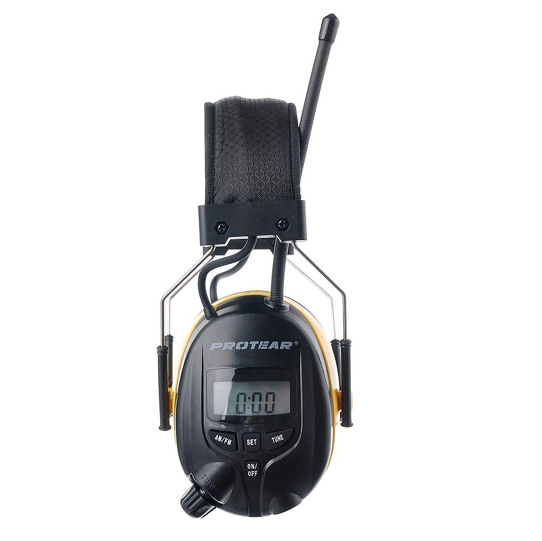 PROTEAR Digital AM FM Radio Headphones, Ear Protection Safety Earmuffs, Electronic Noise Reduction Ear Defender, Perfect for Mowing Working, with a Carring Case by PROTEAR