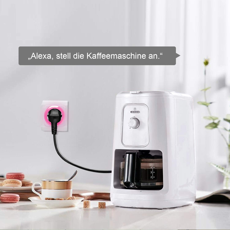 Stromverbrauch messen Kompatibel mit Alexa Smart Steckdose Wechsellicht 16A WLAN Steckdose Wifi Stecker fernbedienbar
