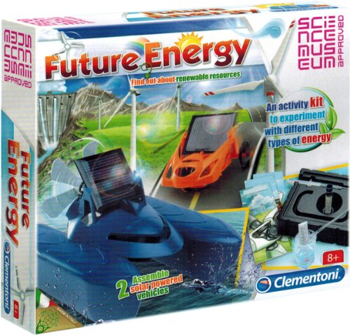 Future Energy Experiments Educational Kit - Assemble Two Solar Powered Vehicles, Ages 8 and Up - Made in Italy