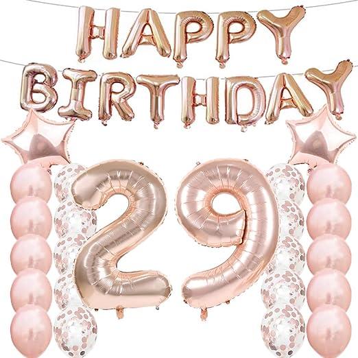 Amazon.com: Globos de 29º cumpleaños para decoración de ...