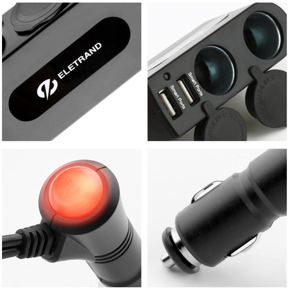 Barcos Toma USB de Cargador,12V//24V Cargador Coche Impermeable Pantalla LED Digital para Adaptador Cargador para Coches Motos,SUV Dual Quick Charge 3.0 Puerto UTV y M/ás Encendedor de Mechero