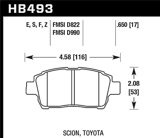 Hawk Performance HB320F.669 HPS Performance Ceramic Brake Pad