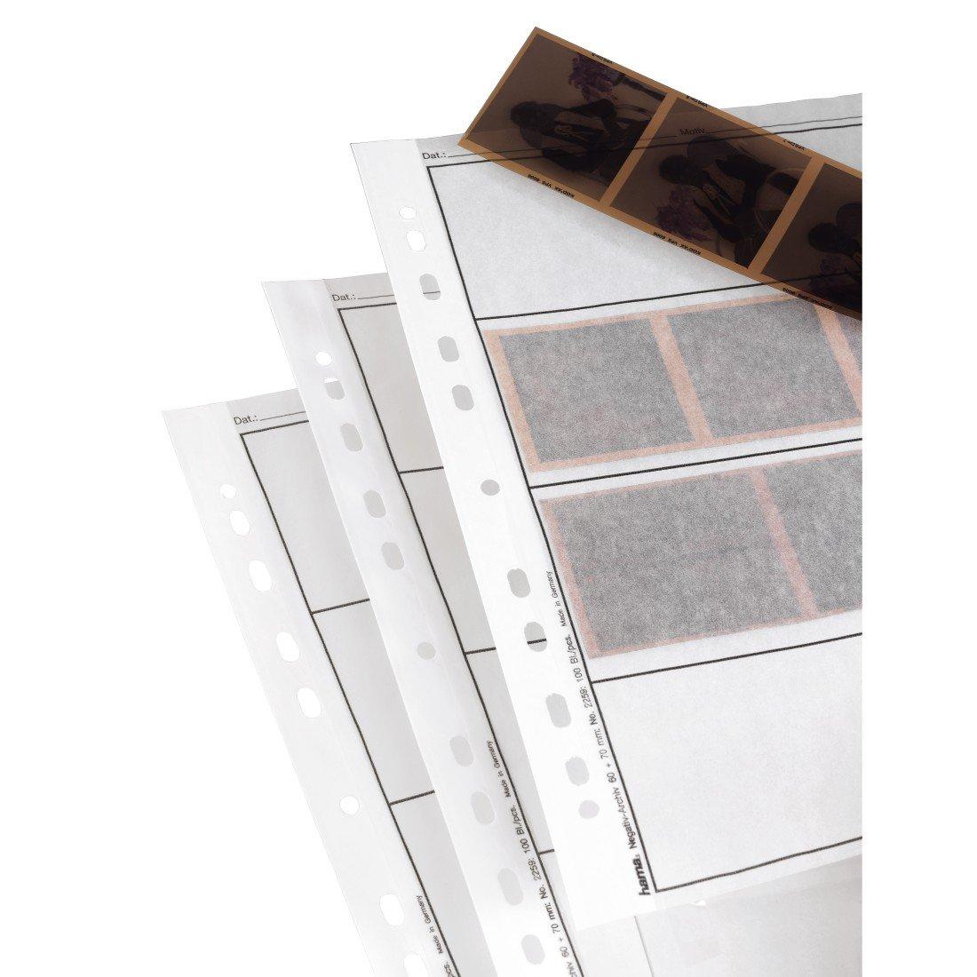 Hama - Negative sleeves, 60-70 mm, Glassine matt, 310 mm, 260 mm (importado) 2259