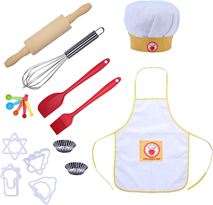 CRB Toddler Little Girls Boys Baking Bakeware Cute Chef Baking Top Apron with Pocket 2T to 3T, Style #4