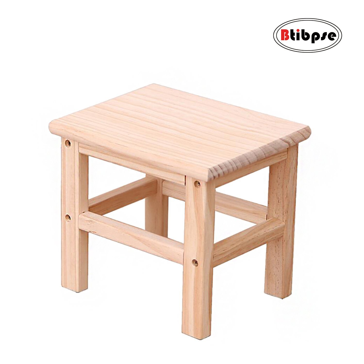 Free Shipping Btibpse Wooden Small Stools For Kids Solid Hard Wood Mini Stool