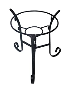 Alpine Black Gazing Globe Metal Stand, 9 Inch Tall